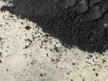 Asfalto e cemento Fotografia Stock Libera da Diritti