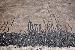 asfalto imágenes de archivo libres de regalías