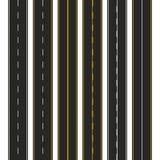 asfalto Grupo de tipos da estrada com marcações Projeto do molde da tira da estrada para infographic Ilustração do vetor ilustração do vetor