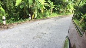 Asfalto rotto di Male della strada stock footage