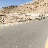Asfaltowa droga w pustynia negew Fotografia Royalty Free