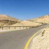 Asfaltowa droga w pustynia negew Obraz Royalty Free
