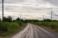 Asfaltowa wiejska droga Zdjęcie Stock