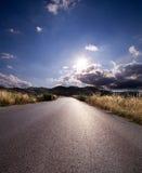 asfaltowa wiejska droga Zdjęcie Royalty Free