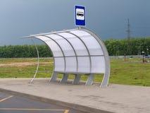 asfaltowego autobusowego pawilonu drogowa przerwa Fotografia Stock