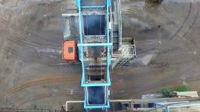 Asfaltowej betonowej ro?liny powietrzna fotografia zbiory wideo