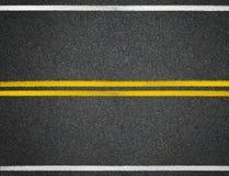 Asfaltowej drogi autostrady linii oceny Obrazy Stock