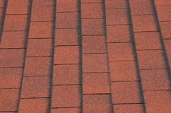 asfaltowi domowi czerwoni gonty Fotografia Stock