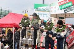 asfaltowi filiżanki liburna podium wiecu drużyny zwycięzcy Zdjęcia Stock