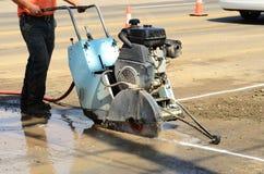asfaltowy cięcie Zdjęcia Stock