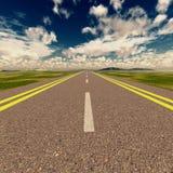asfaltowy clous drogowy niebo Fotografia Royalty Free