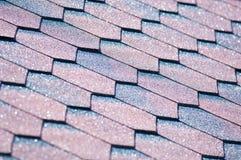 Asfaltowy gont jest typ ściany lub dachu gont który używa a zdjęcia stock