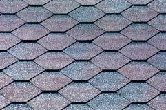 Asfaltowy gont jest typ ściany lub dachu gont który używa a obrazy royalty free