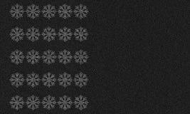 Asfaltowy tło z płatkami śniegu Zdjęcia Royalty Free