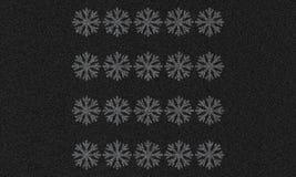 Asfaltowy tło z płatkami śniegu Zdjęcie Royalty Free