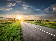 Asfaltująca autostrada Fotografia Royalty Free