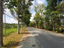 Asfaltväg i Asien Arkivfoton