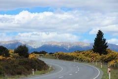 Asfaltweg in Nieuw Zeeland Stock Afbeeldingen