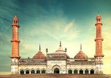 Asfi moské lucknow Bara Imambara arkivfoto