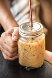 Asga el café Imagen de archivo libre de regalías