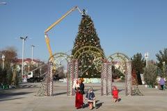 ASGABAT, IL TURKMENISTAN - CIRCA DICEMBRE 2014: Preparazione del Fotografie Stock Libere da Diritti