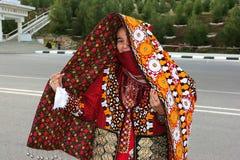 Asgabat, il Turkmenistan - 10 marzo Ritratto di giovane unidenti Immagine Stock