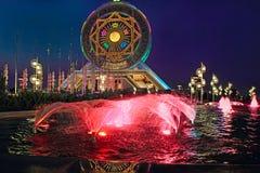 Asgabat, il Turkmenistan - 14 ottobre 2015 Ferris Wheel Fotografia Stock Libera da Diritti