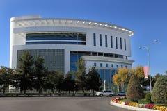 Asgabat, il Turkmenistan - 23 ottobre 2014 Il nuovo cente medico Fotografia Stock