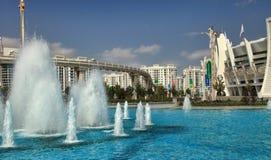 ASGABAT, il TURKMENISTAN, il 26 settembre 2017: Architettura moderna Fotografia Stock