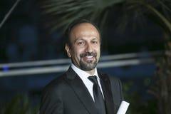 Asghar Farhadi stelt met zijn toekenning voor het Beste Scenario Royalty-vrije Stock Foto's