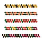 Ash berry decorations. Autumn ash berry decorations - vector illustration vector illustration