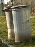 Ash bins Stock Photography