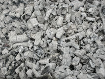 Ash from burned brushwood Royalty Free Stock Images