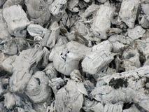 Ash from burned brushwood Stock Images