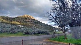Ash Butte Central Oregon Desert Arkivbild