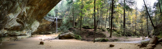Ash Cave. Hocking Hills Region, Ohio Royalty Free Stock Images