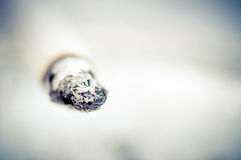 Ash on the cigar Royalty Free Stock Photography
