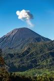 Ash cloud rising at Semeru Volcano Mountain, Java, Indonesi Stock Images