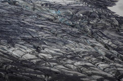 Ash covered glacier Royalty Free Stock Images