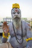Varanasi, India, Sadhu. A Hindu Sadhu with his body covered in Ash, in Varanasi, India Royalty Free Stock Images