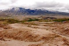 Ash Deposits av Mt St Helens i det Wahington tillståndet Arkivfoto