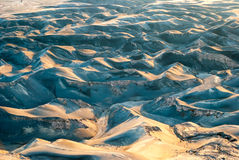 Ash dunes at mount Bromo plateau, Indonesia Royalty Free Stock Photography