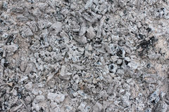 Ash from the fire Royalty Free Stock Photo