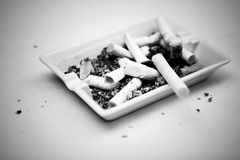 Ash-tray with cigarettes Royalty Free Stock Photos