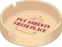 Ash Tray Vector Illustration stock illustrationer