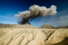 Ash volcano of mountain bromo Royalty Free Stock Images