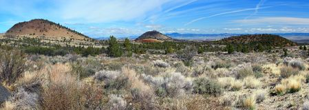 Ash Volcanos, Lava Beds National Monument, California fotografia stock