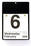 Ash Wednesday - 2008. Calendar depicting Ash Wednesday, 2008 royalty free stock image