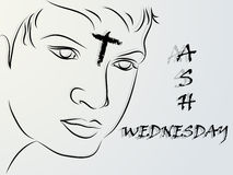Ash Wednesday Abstract. Creative  abstract for Ash Wednesday with creative illustration in background Royalty Free Stock Image