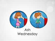 Ash Wednesday Background Image stock